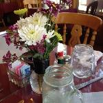 Table decor and jar glasses