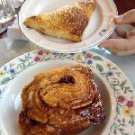 cherry turnover and cinnamon roll