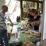 Rob serves a delicious lunch in a great private bush setting