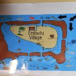 Plan de l'île avec passes