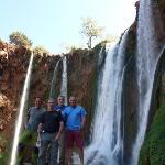Visitando las cataratas de Orzud.