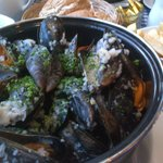 Morston Mussels and chips