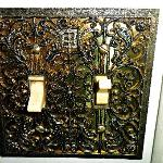 even light switches were ornate