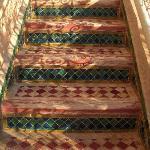 escaliers sur la terrasse