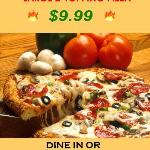 Large Pizza w 2 Toppings $9.99