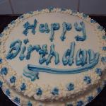 The lovely birthday cake