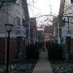 Walkway between all the buildings