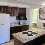 Kitchenette in King Jacuzzi Suite