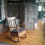 Semi private porch just off the Blue Room!