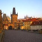 The Charles Bridge and Prague Castle