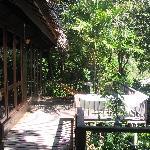 terrasse du bungalow 1