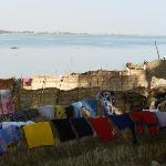 Panni stesi sulle rive del Niger - Segou