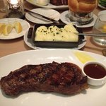 new york strip steak and potato purée