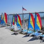 Some of the boats to rent.
