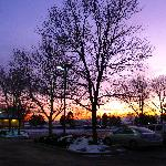 Sunset at parking lot. Photo by Renee.