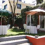 If the weather is warm enough, you will definitely want to eat in this lovely courtyard.