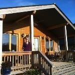enjoying the sun on the veranda at tadpole lodge