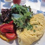 Omelet of the day with mixed greens