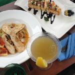 yummy lunch and cocktails by the pool