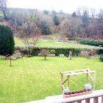 Overlooking the garden