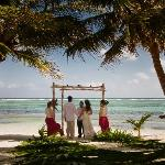 Our private ceremony on the beach