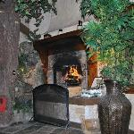 Fireplace in use
