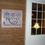 The sign out front at Hearth 'n Kettle