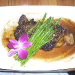 Steak au Poivre is an excellent choice here.