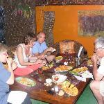 table familiale en terrasse