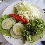 Fresh pesticide-free salad