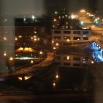 View of Sherbrooke from the room at night