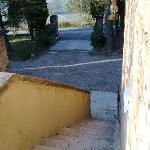 La scalinata d'accesso alle camere