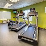 Keep up with your workout routine in the exercise room