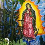 "Wall painting in the ""Jardin de Frida"" garden"