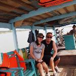 The boat ferry which took us up river to the start of our cycle