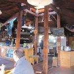 Main hut - looking at kitchen