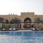 Hotel from desert