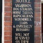 A sign in Canterbury