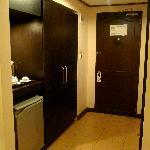 Fridge, Coffee & Tea Corner and Room Entrance =)
