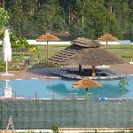 A magnífica piscina...
