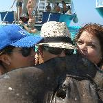 Kissing ray = 7 years good luck!