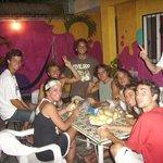 guests preparing ñoqui together