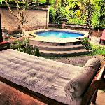 Bed Bench and Plunge Pool