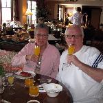Champagen and orange juice on birthdaymorning