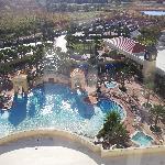 Vista della piscina direttamente dalla nostra stanza