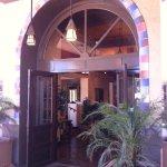Charming desert-style entrance.