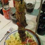 "Black pig kebab ""what a beauty"""
