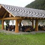 New covered picknick area at Xatsull Heritage Village