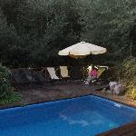 The pool and deck by stream