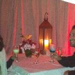 Mr. and Mr. Sarfati @ romantic dinner